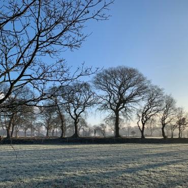 Een prachtige winterse ochtend